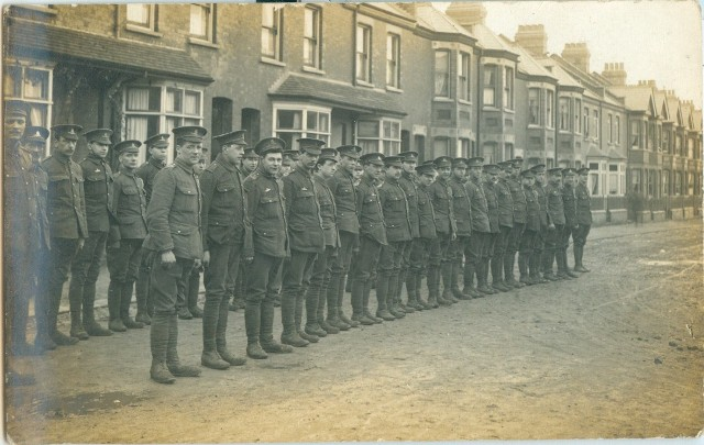 Men of North Midlands Division in Shaftesbury Road Luton