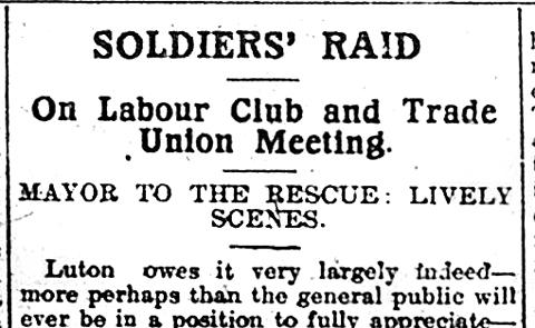 Soldiers raid headline