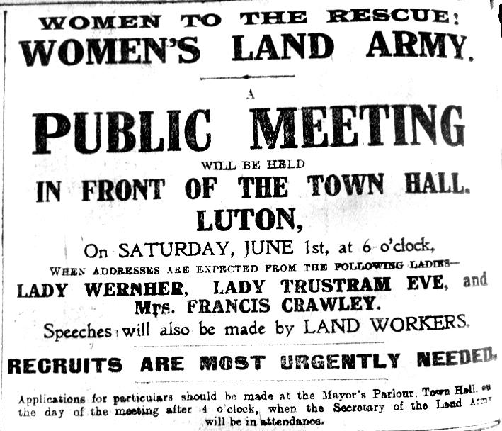 Women's Land Army advert