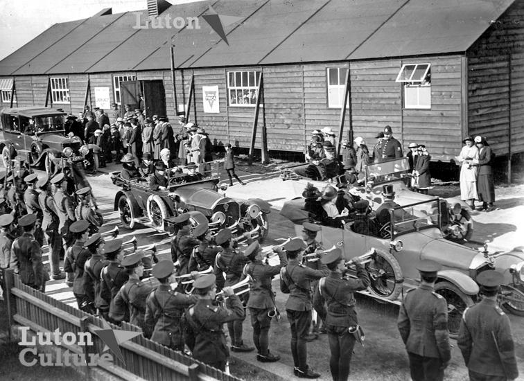 Biscot Camp royal visit