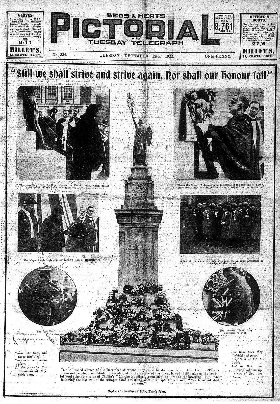Scenes at war memorial unveiling