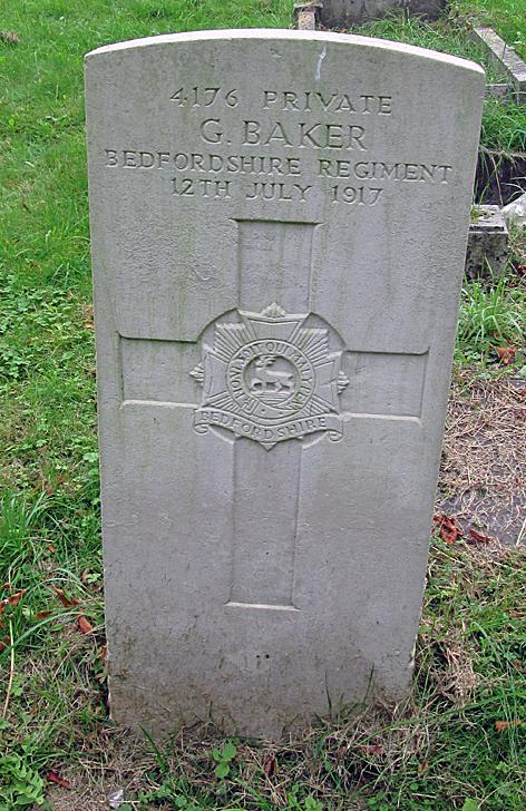 Pte AugustusGeorge Baker headstone