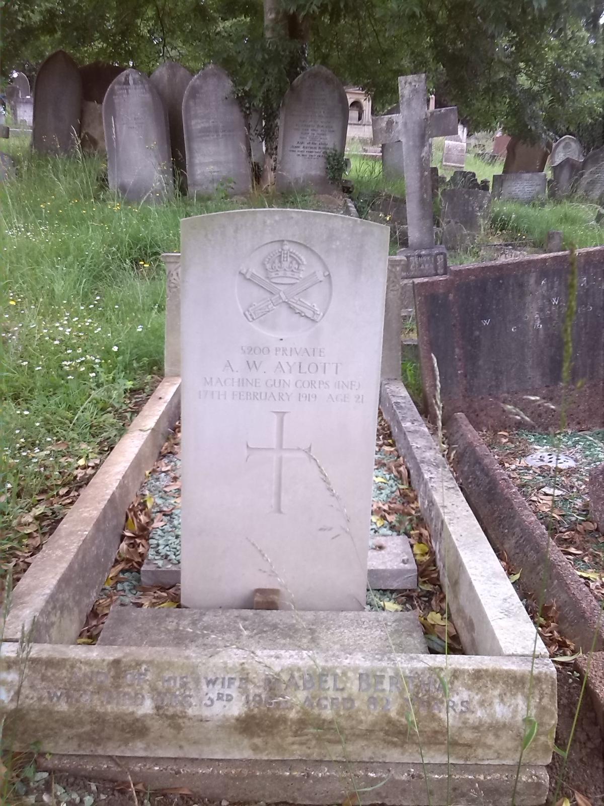 Arthur Aylott's Headstone