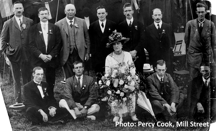 Colin Daniels (standing far right) in Lady Wernher group
