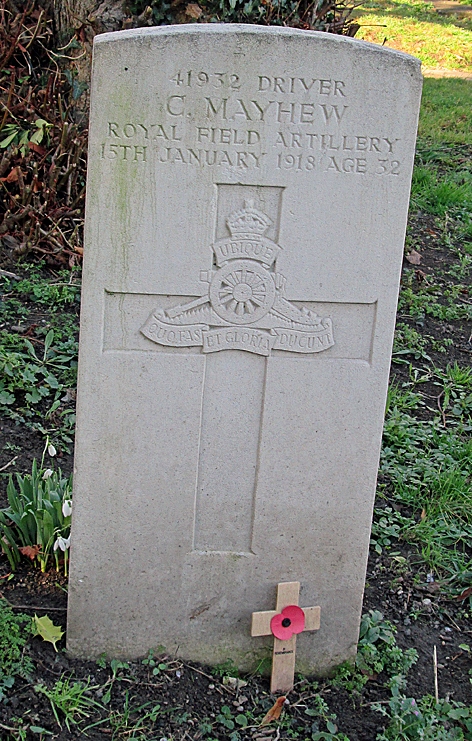 Driver Charles Mayhew gravestone