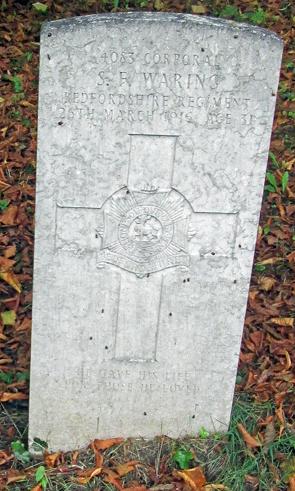 Sydney Waring gravestone