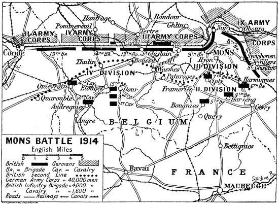 Map of Battle of Mons