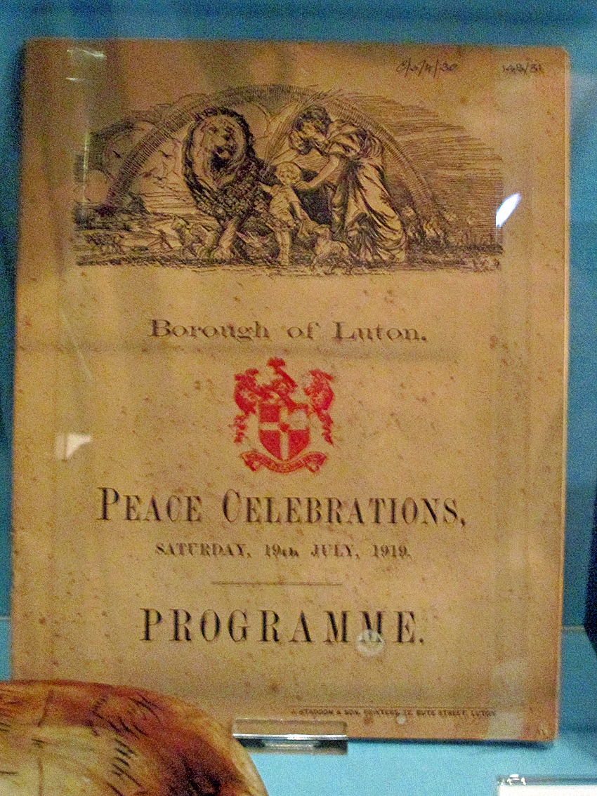 Peace Day programme 1919