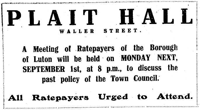 Ratepayers' meeting advert