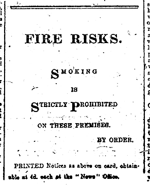 Fire risks notice