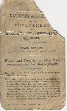Discharge papers for W.E. Owen Front Cover