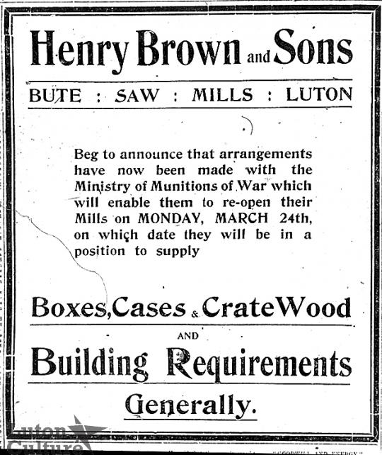 Henry Brown advert
