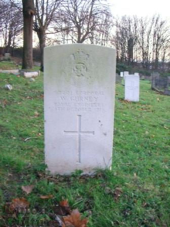 Gravestone of Cpl William Gurney