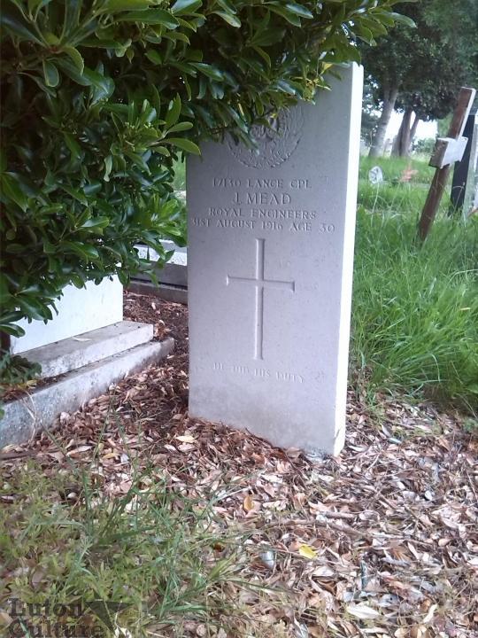 Jesse Mead's headstone