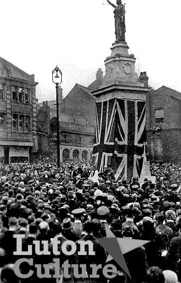 Luton War Memorial unveiling