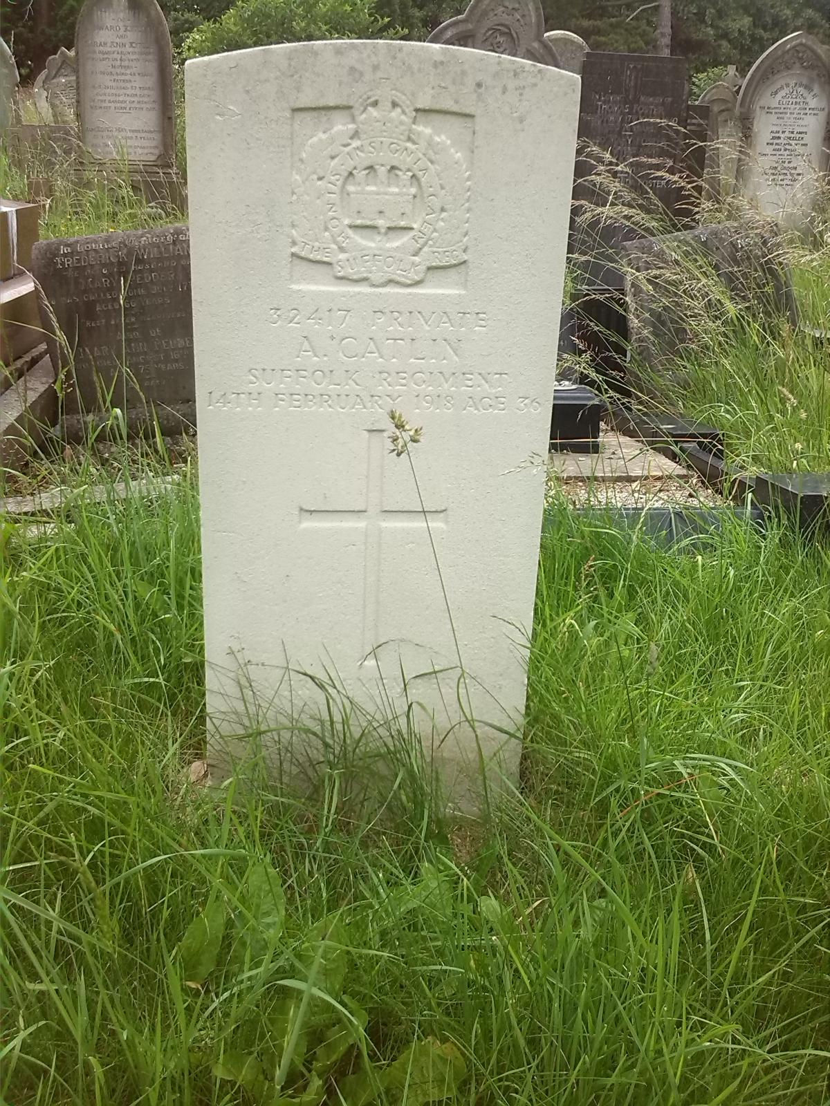 Arthur Catlin's head stone
