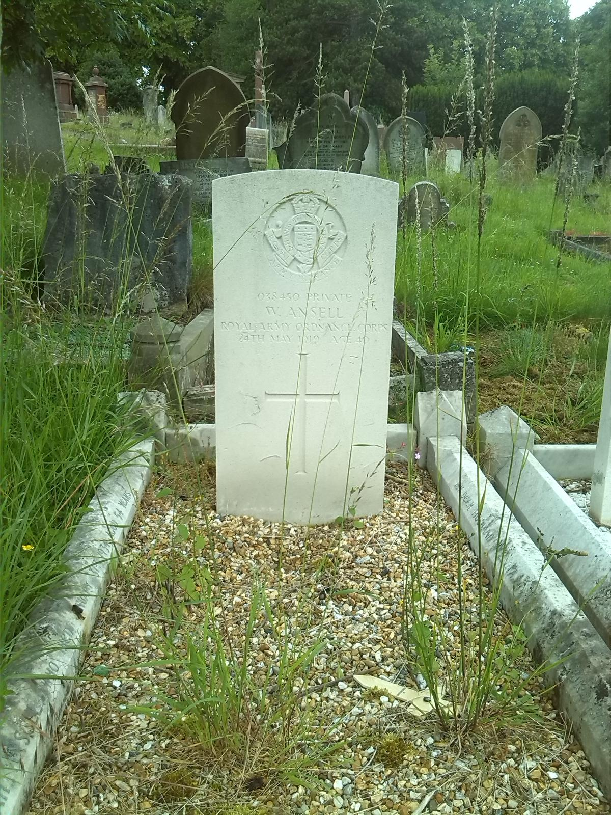 William Ansell's Headstone