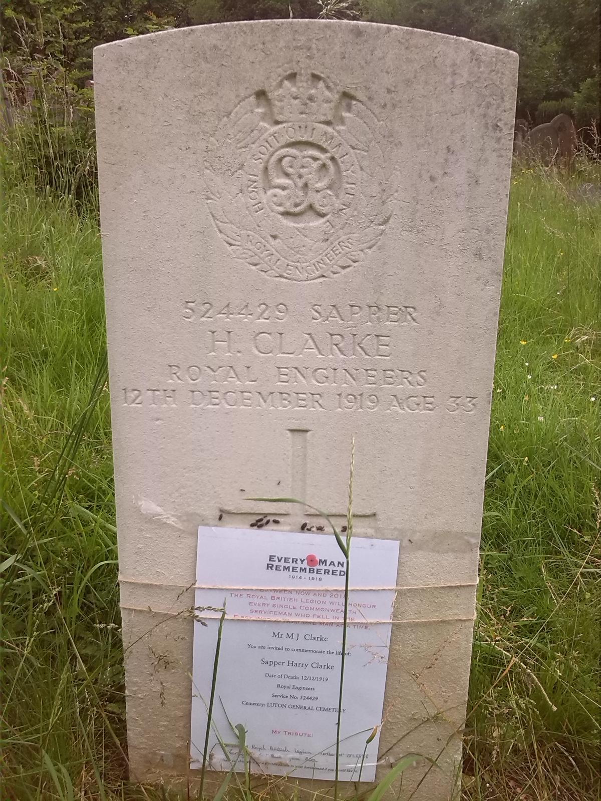 Harry Clarke's Headstone