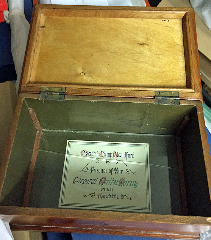 Box made by German POW Walter Doring