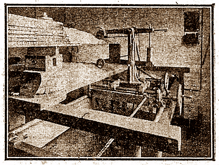 Barber and White patent propeller shaping machine