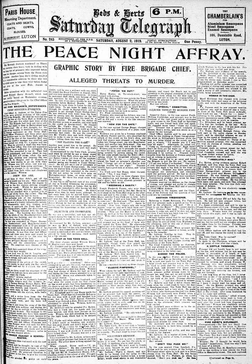 Saturday Telegraph riots1