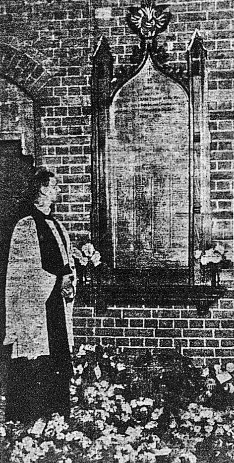 St Matthew's memorial dedication 1921