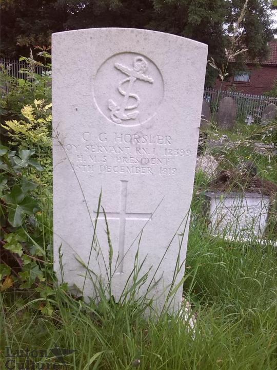 Cyril Horslers Headstone