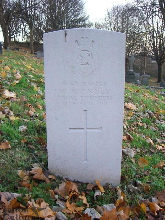 Gravestone of Walter William Pinney