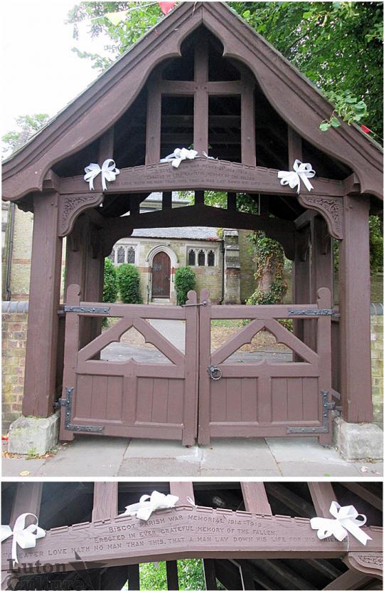 Biscot Church lych gate
