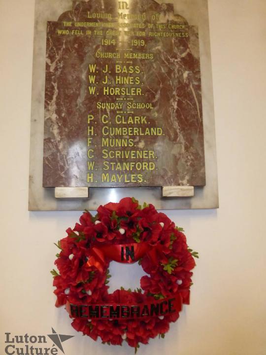 Limbury Baptist Church Memorial (Judith Brazier)