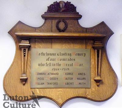 Luton Post Office WW1 memorial