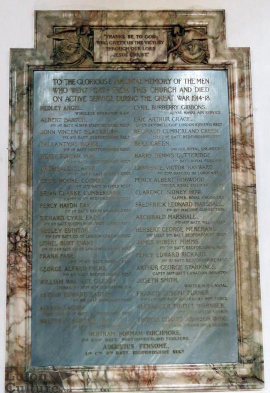 St Mary's WW1 memorial