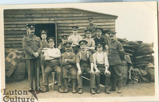 Soldiers at Biscot Camp Luton
