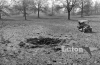 WW1 bomb crater at Luton Hoo